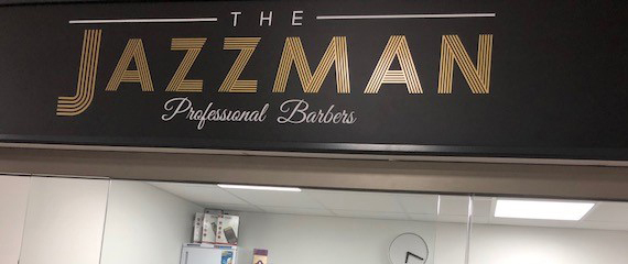 jazzman barbers sign at st cuthberts